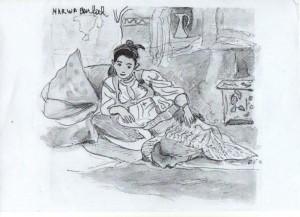 dessin femme algérienne 1