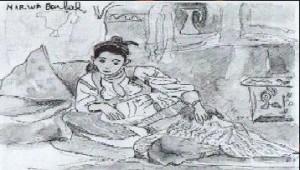 dessin femme algérienne